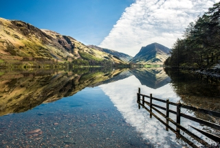 Buttermere spring reflections