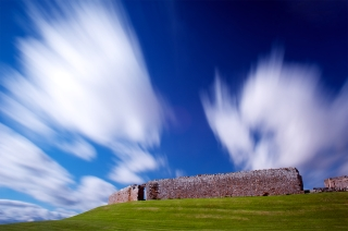 Duffus castle bursts