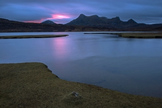 Pinky dawn in Sutherland