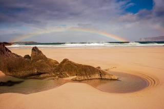Rainbow rock at Ceinnbeinne ( can of beans beach )