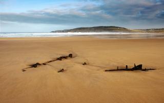 The Wreck On Torrisdale sands