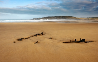 The Wreck On Torrisdale sands