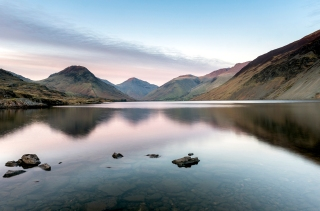 Wast Water spring sunset