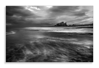 Black and white Bamburgh