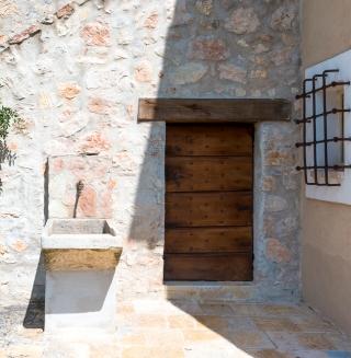 Borgo door and fountain