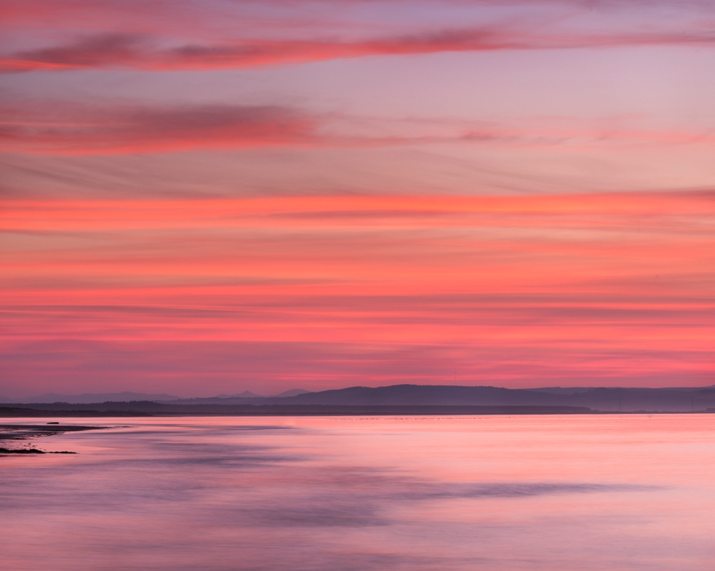 In the Pink Nairn west beach