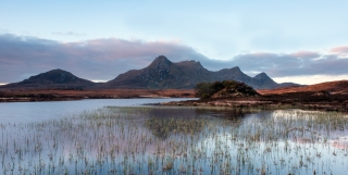 Dawn creeps in at Lochan Hakel