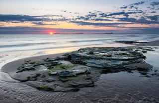 Rocky Dawn in Northumberland