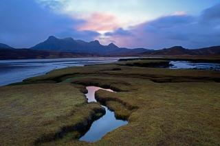 Salt flat sunrise in Sutherland