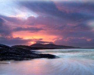 November sunset on Nisabost beach