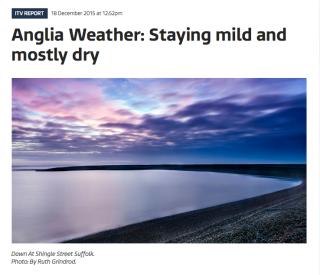 screenshot of Anglian weather page