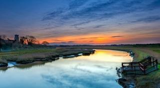 Blythburgh Winter sunset