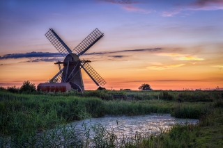 Summer sunset Herringfleet Suffolk