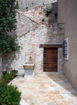 Door and fountain