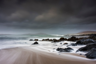 The rocks at Little beach Harris