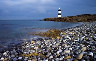 Cloudy day at Penmon beach