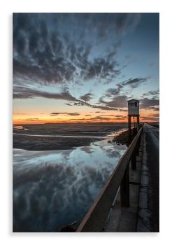 Lindisfarne causeway dawn