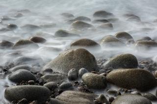 Ghostly boulders
