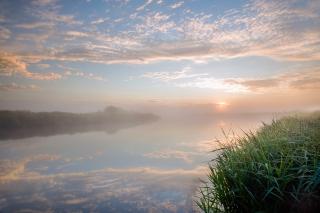 River Chet July sunrise_