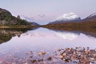Blushing loch Clair