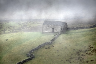 Mists and barn