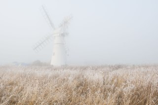 Windmill in the mist