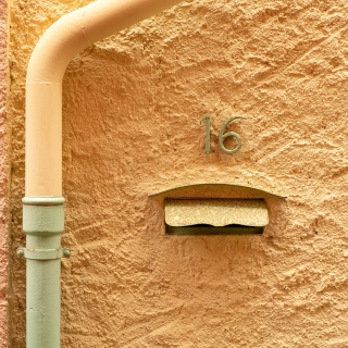 Drain pipe and letter box