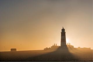 Smoking Happisburgh Lighthouse