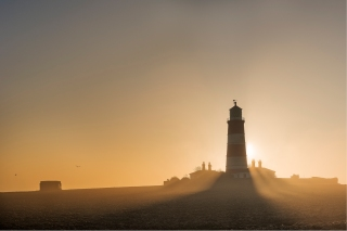 Smoking Happisburgh Lighthouse