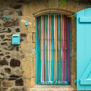 Stripey doorway