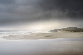 Rain clouds over Traigh Uige