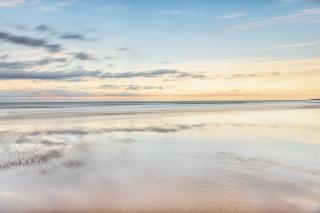 Winterton on sea near sunset