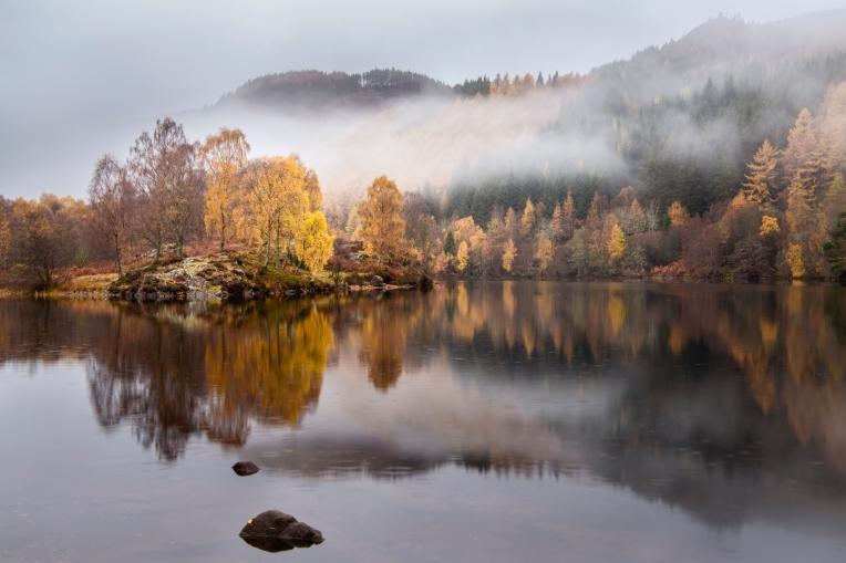 Autumn rain at Loch Tummel