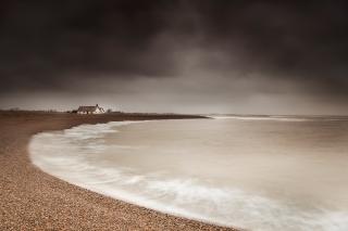 Breaking waves Shingle street - Suffolk